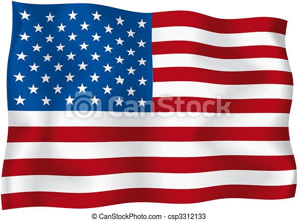 USA - American flag - csp3312133