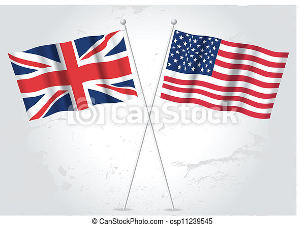 usa and great britain flag waving eps vector search clip art rh canstockphoto com