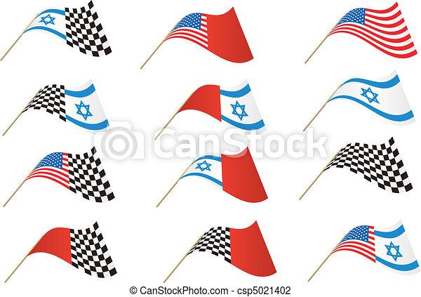 USA and Israel Flag - csp5021402