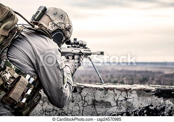 usa., armee, heckenschütze - csp24570985