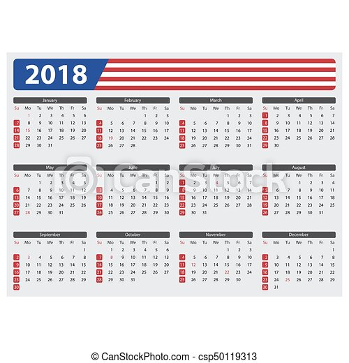 Usa Calendar 2018 Official Holidays Usa Calendar 2018 Official