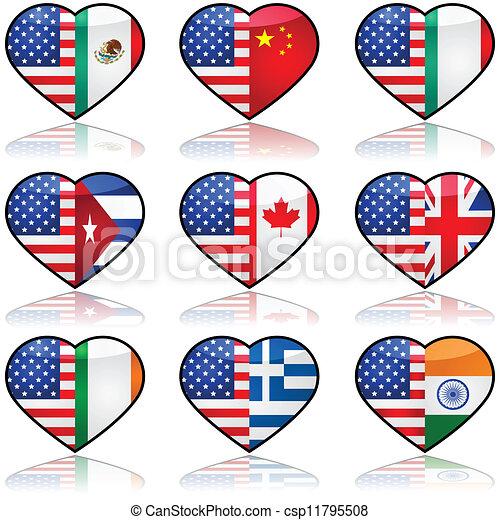 USA divided love - csp11795508
