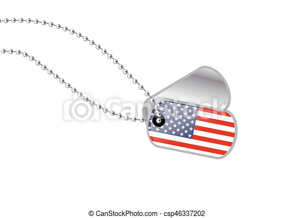 USA Dogtag - csp46337202