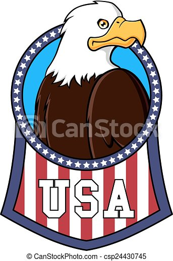 Usa Eagle Symbol Of United States Of America Composed By A Bald