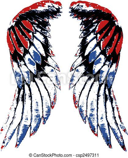usa eagle wing portrait https www canstockphoto com usa eagle wing portrait 2497311 html