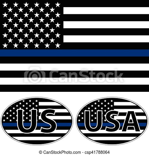USA flag  blue stripe - csp41788064