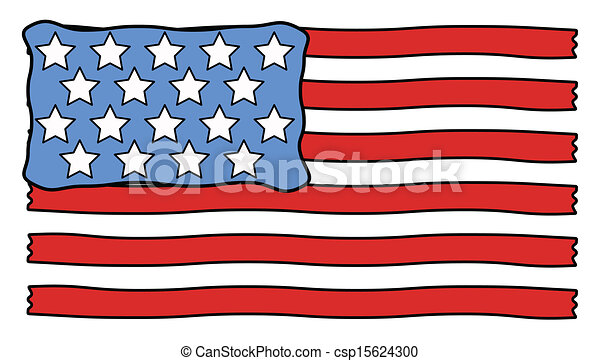 usa flag cartoon vector drawing art of retro usa flag vector rh canstockphoto com usa flag vector grunge usa flag vector black and white