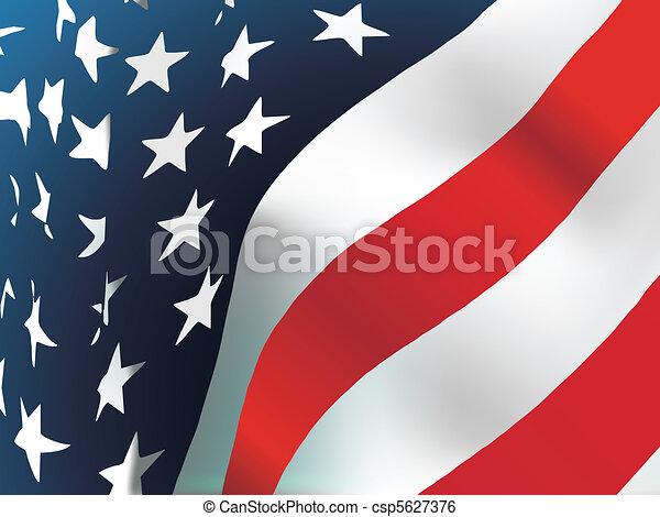 USA flag  - csp5627376