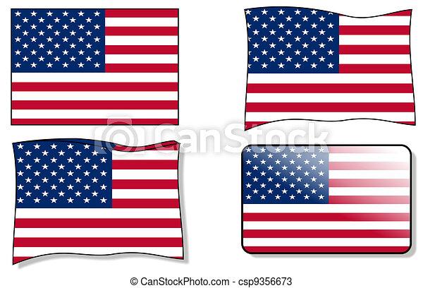 Usa flag  - csp9356673