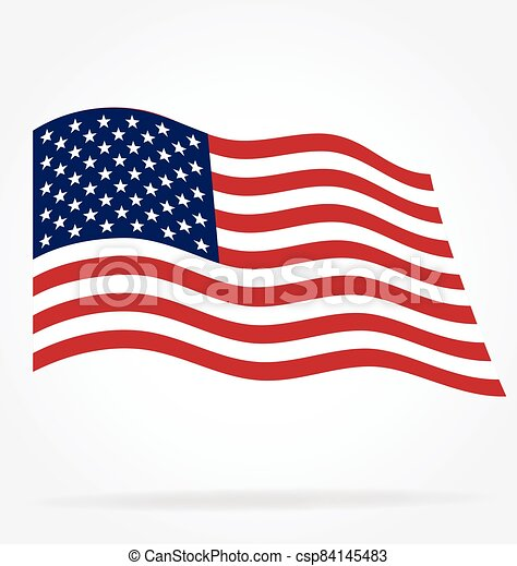 usa flag flying vector - csp84145483