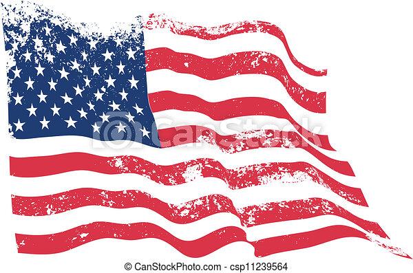 USA flag grunge - csp11239564