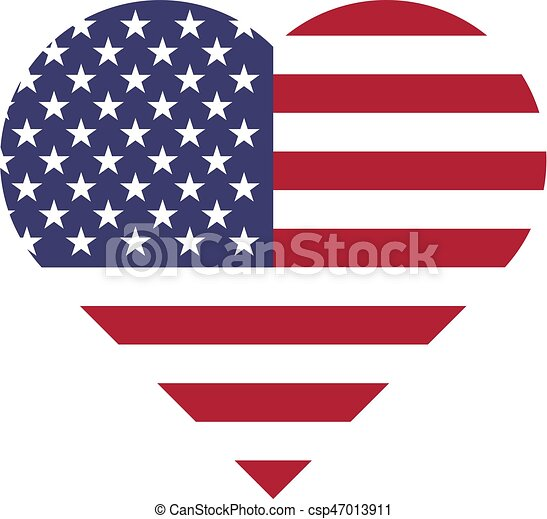 usa flag in a shape of heart patriotic national symblol of united rh canstockphoto com us flag logo's us flag logo clip art