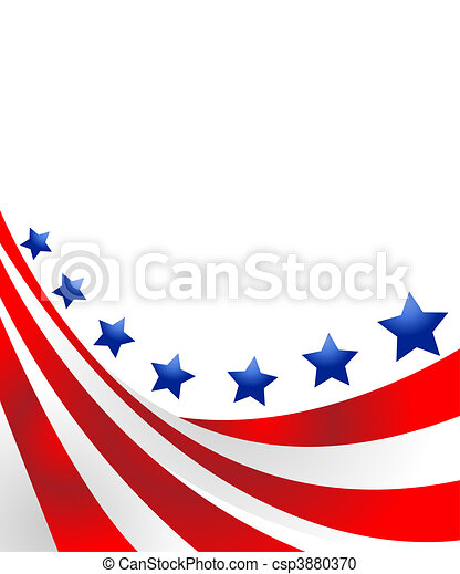 USA flag in style  - csp3880370