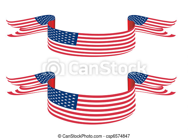 usa flag like banner with stars and stripes stock illustrations rh canstockphoto com stars and stripes banner clip art free stars and stripes clipart add text