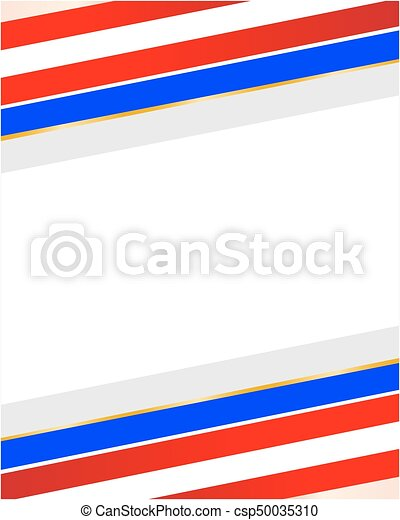 Usa flag stylized frame. Abstract striped usa flag frame with empty ...
