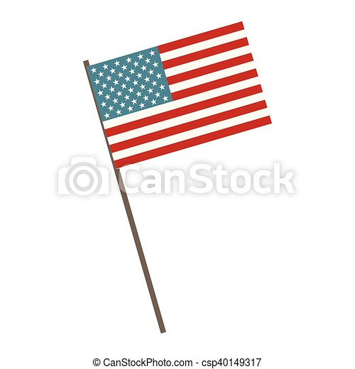 Usa Flag Symbol United States Of America Patriotic Sign Vector