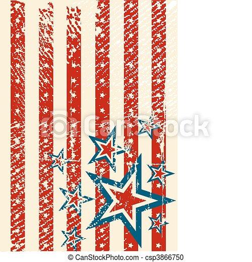 USA flag theme - csp3866750