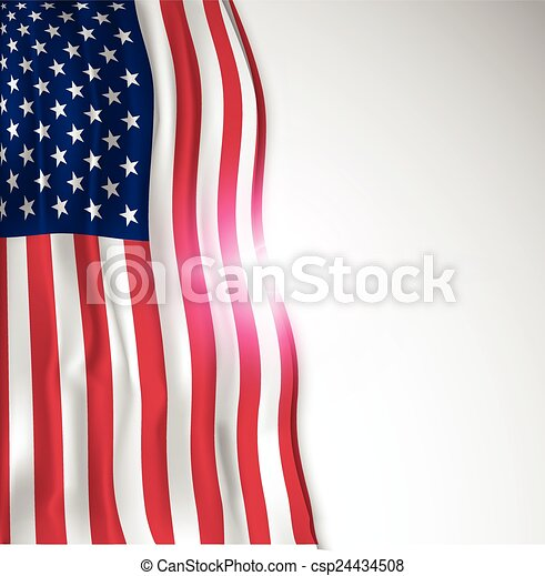 Usa flag  - csp24434508