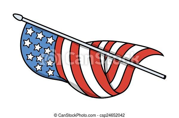 USA Flag Vector - csp24652042