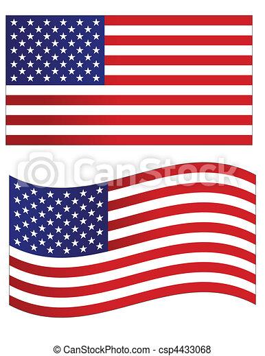 USA flag vector illustration  - csp4433068