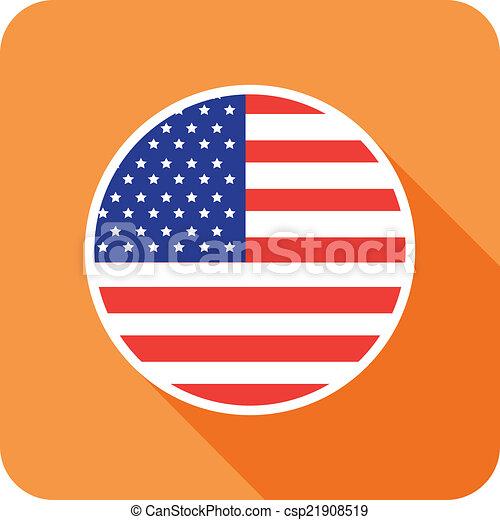 usa flat flag icon - csp21908519