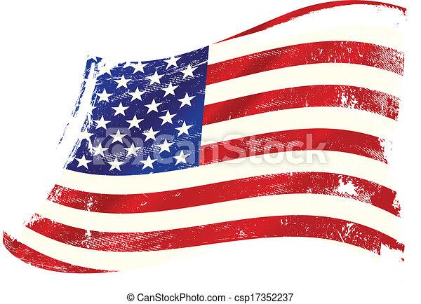 USA gruge flag - csp17352237