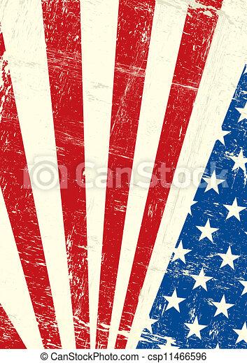 USA grunge poster - csp11466596