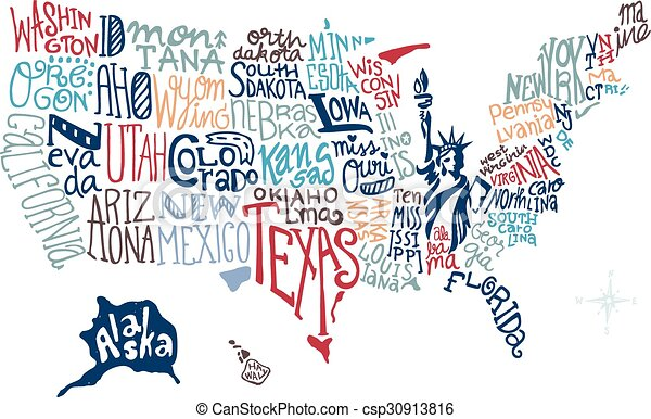 Hand Drawn Us Map.Usa Hand Drawn Map Vector Illustration Doodle Vector Illustration