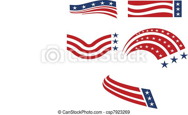 USA icon set  - csp7923269