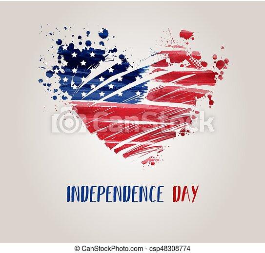 usa, indépendance, fond, jour - csp48308774