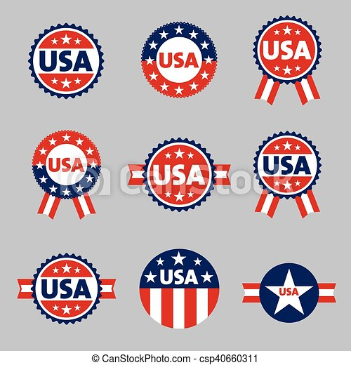 USA labels, sign, tag vector set - csp40660311