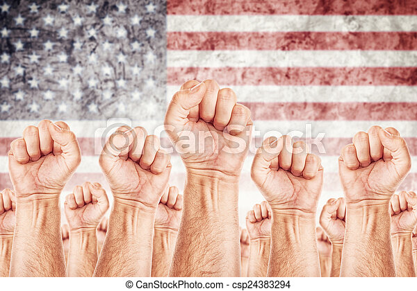 USA Labour movement, workers union strike - csp24383294