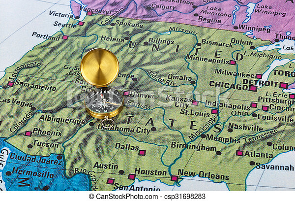 Usa Map And Compass Travel Background Pictures Search - Usa map with compass
