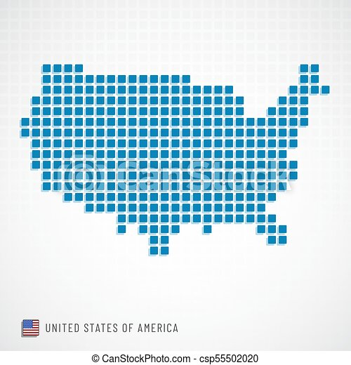 Usa map and flag icon. Vector illustration of united states of ...