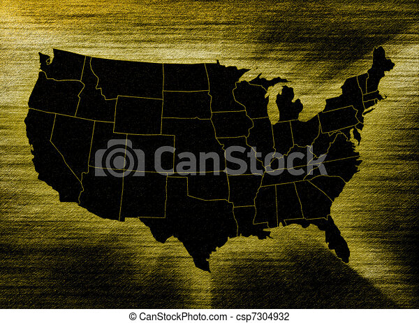 Line Art Usa Map : Usa map on abstract background clip art search illustration