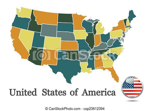 USA map - csp23612394