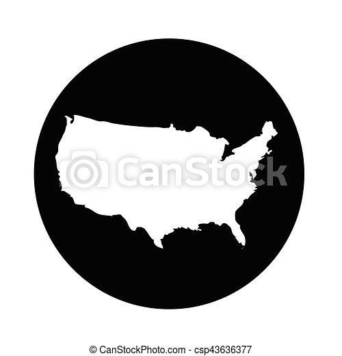 Usa map icon.