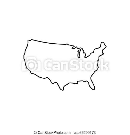 Usa map icon, outline style. Usa map icon. outline usa map vector ...