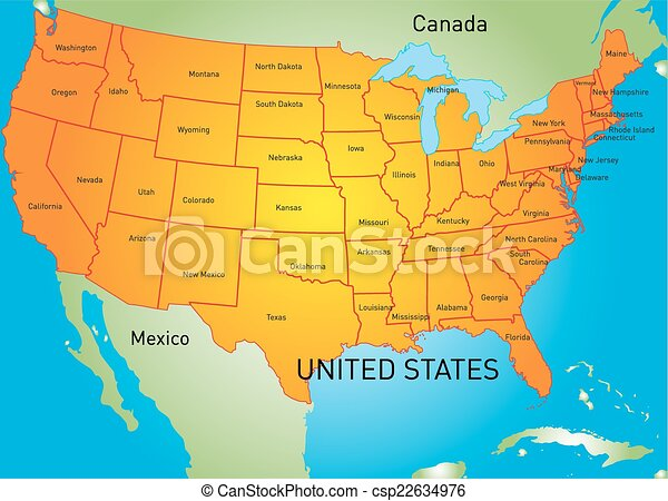 USA map - csp22634976