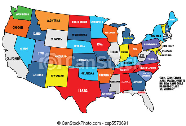 Usa Map Vector Clip Art Search Illustration Drawings And EPS - Drawing of usa map