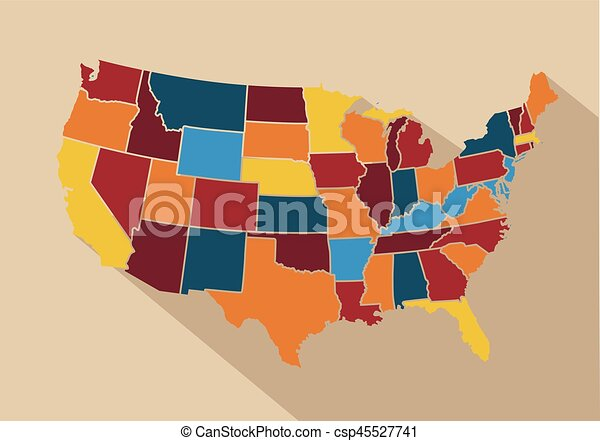 Line Art Usa Map : Usa map vector illustration eps search clip art