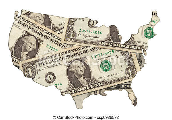 Line Art Usa Map : Usa map with money an photo illustration of the us clip