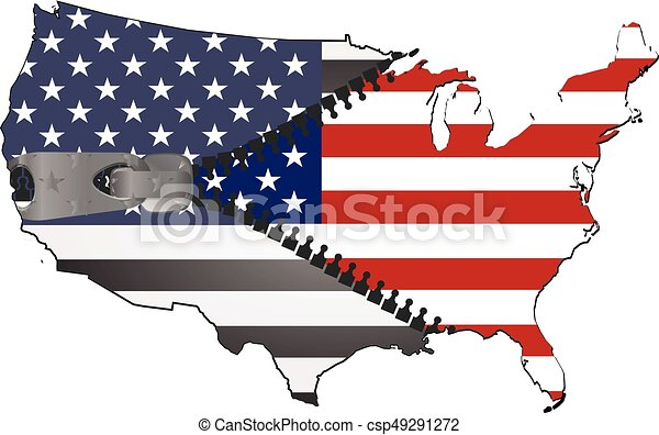 usa map with zip vector