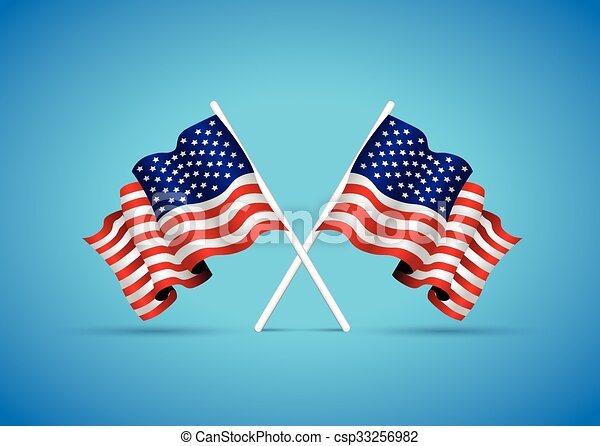usa national flag - csp33256982