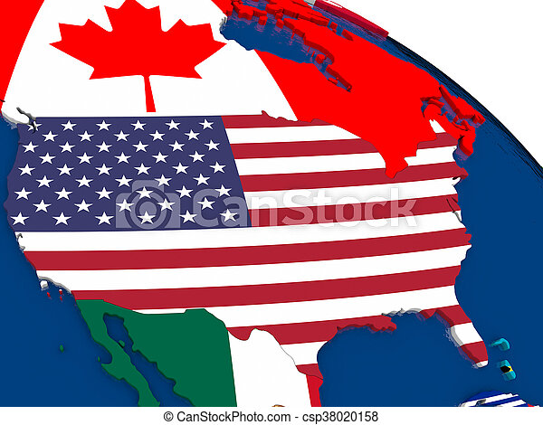 Political Map Of Usa 2015.Usa On 3d Map With Flags Map Of Usa With Embedded Flags On 3d