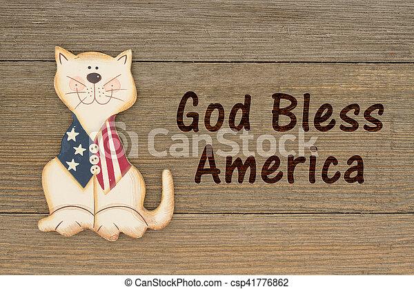 USA patriotic message - csp41776862
