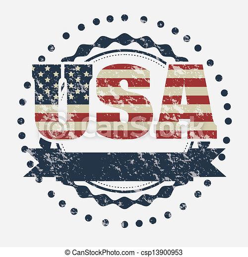 USA poster - csp13900953