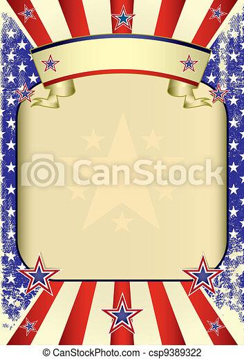 USA poster grunge - csp9389322
