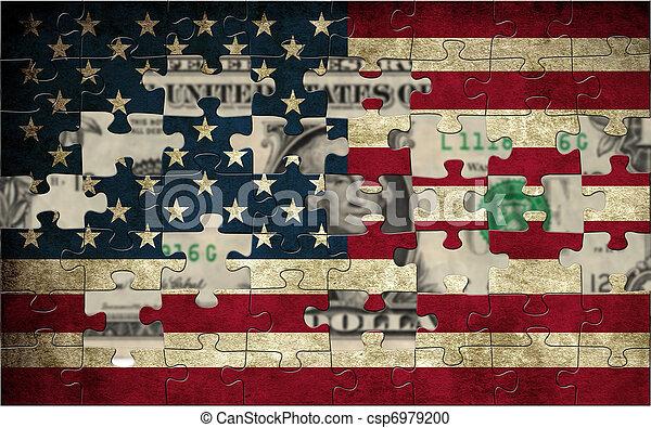 Usa puzzle flag - csp6979200