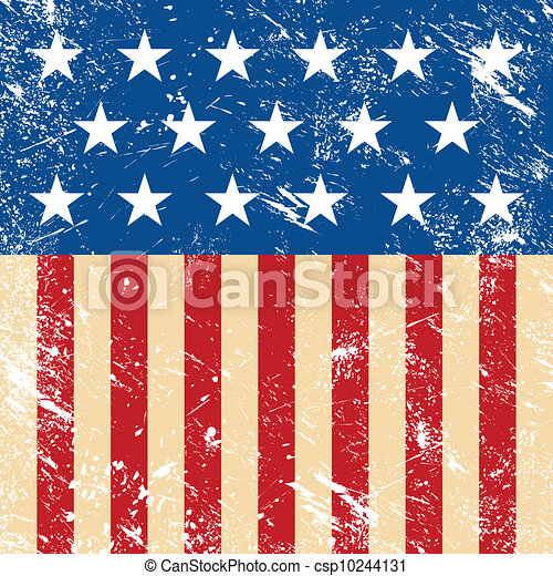 Usa Retro Flag American Grunge Vintage Style Vectors